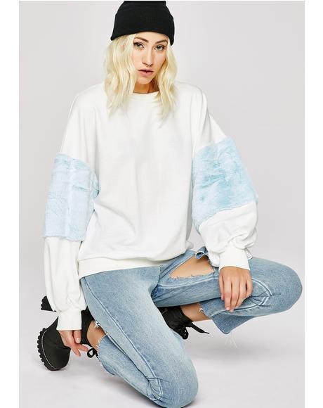 Funny Feeling Furry Sweatshirt