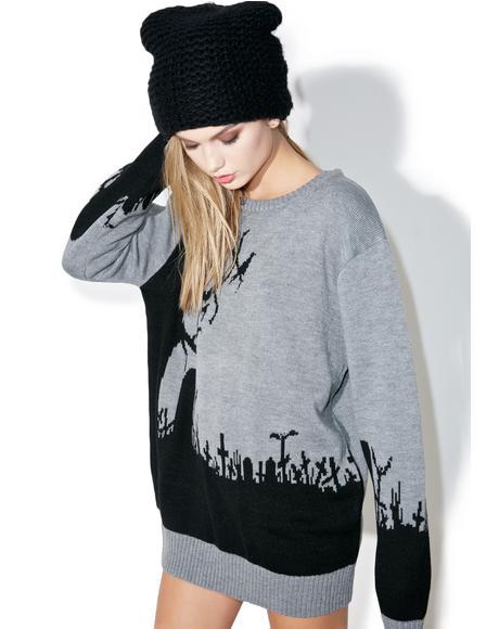 Graveyard Riot Sweater