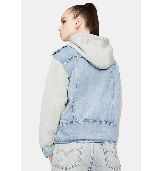 Hardcore Honey Hooded Denim Jacket