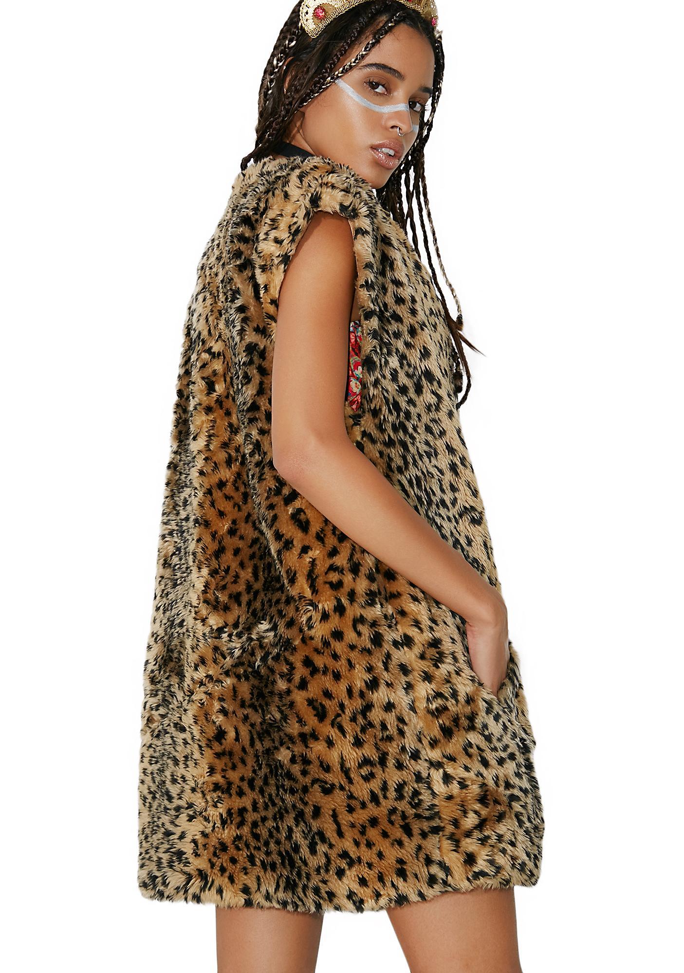 Vintage Schneider Leopard Vest