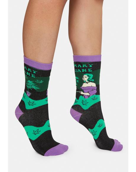 Mary Jane Crew Socks