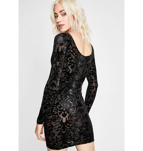 Come Closer Burnout Dress