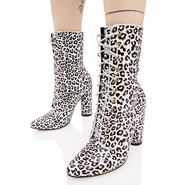 Catty So Posh Lace-Up Boots