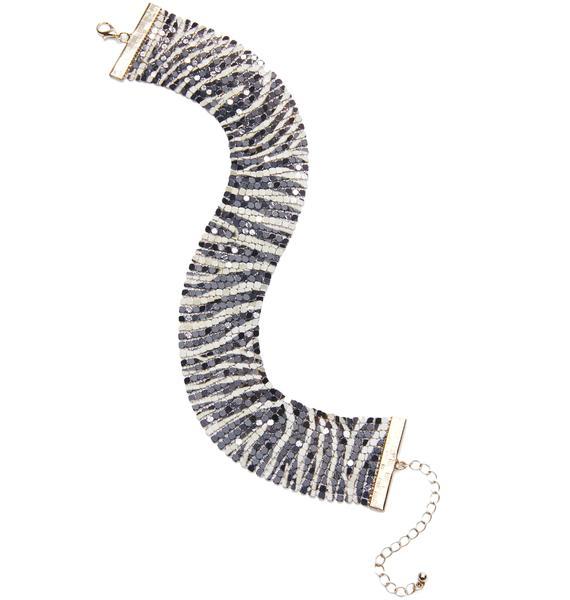 Zebra Chainmail Choker
