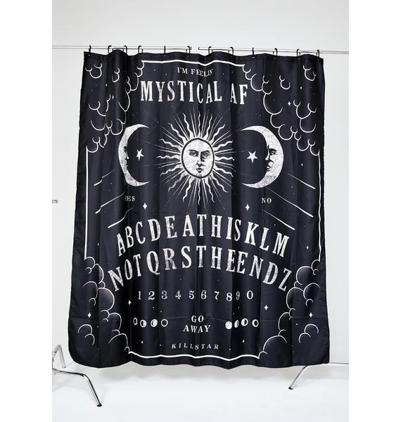 Killstar Not The End Shower Curtain