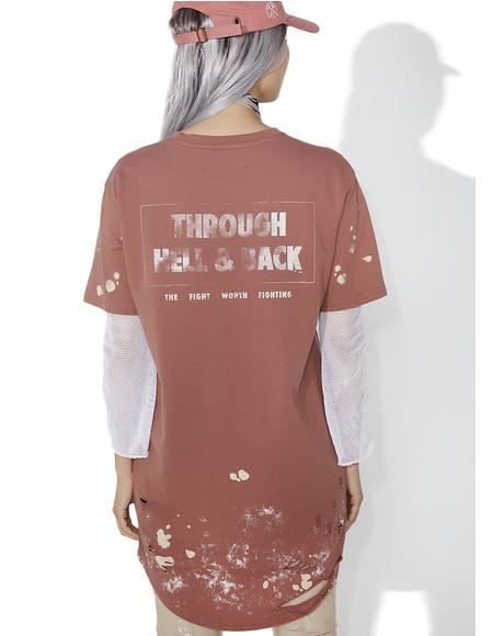 Through Hell And Back Drop Tee