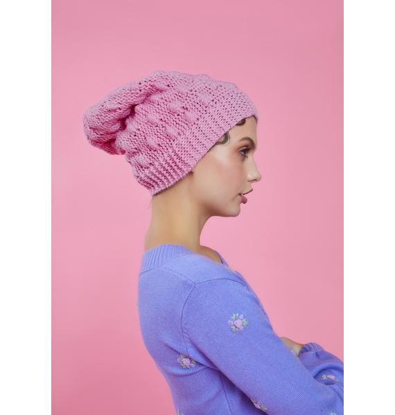 Sugar Thrillz Perfect Performance Knit Pom Pom Beanie