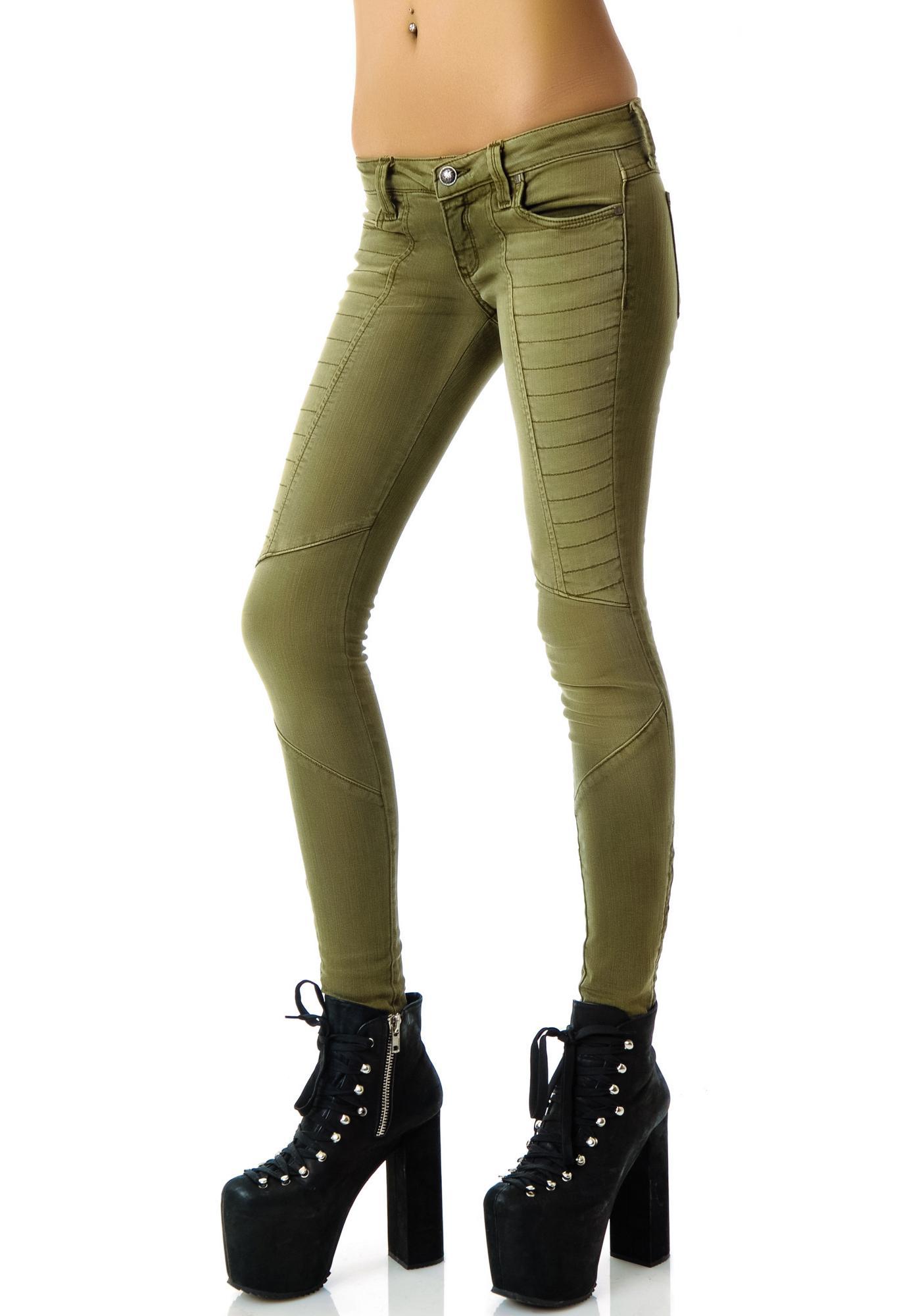 Frankie B Skinny Zip Motocross Jeans