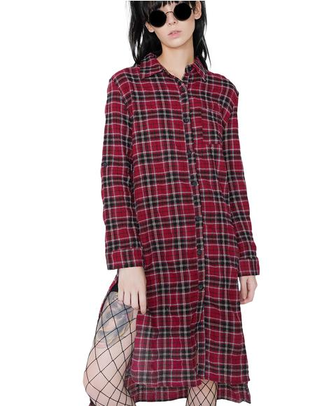 Homeroom Flannel Dress