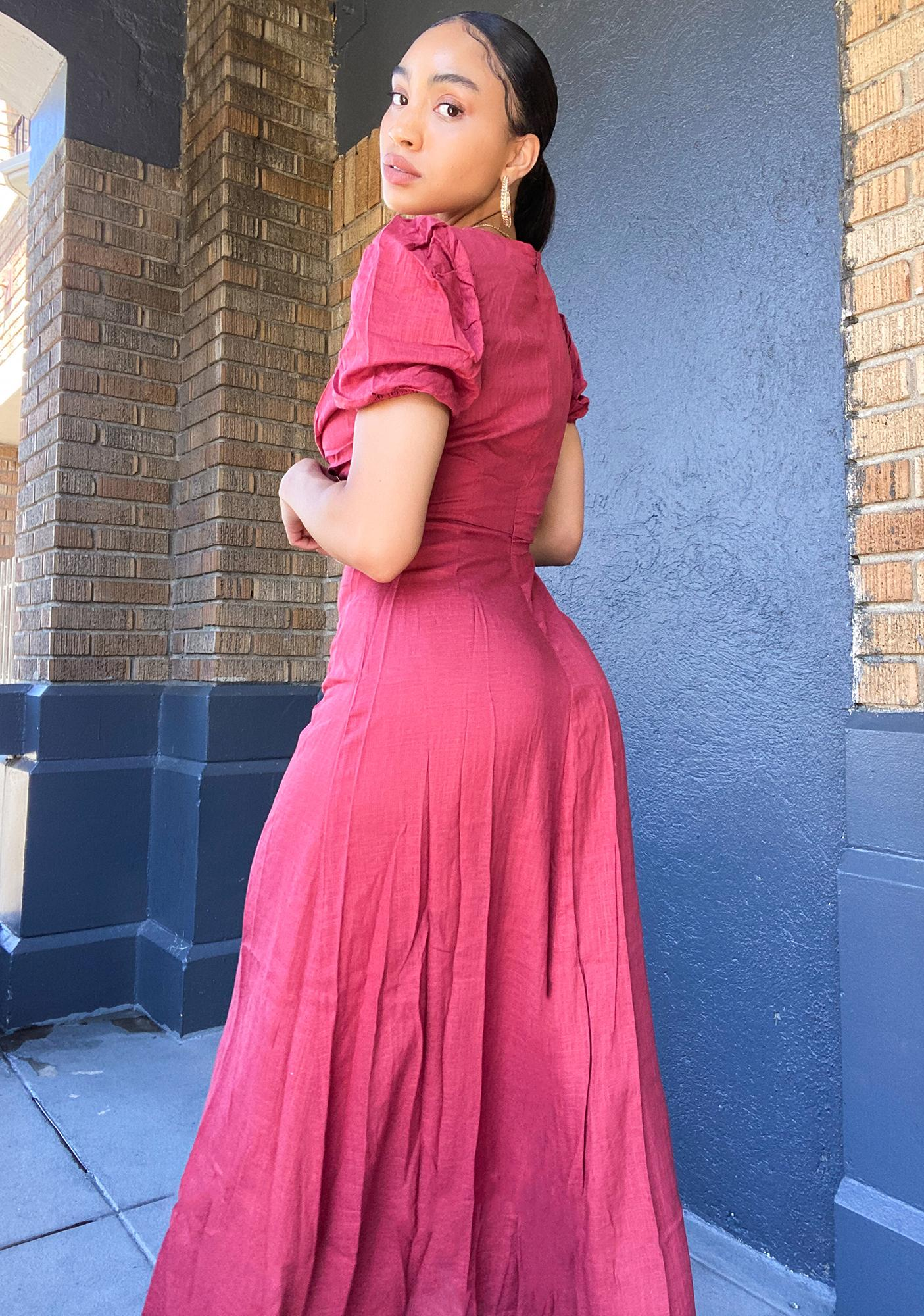 Glamorous Faded Red Maxi Dress