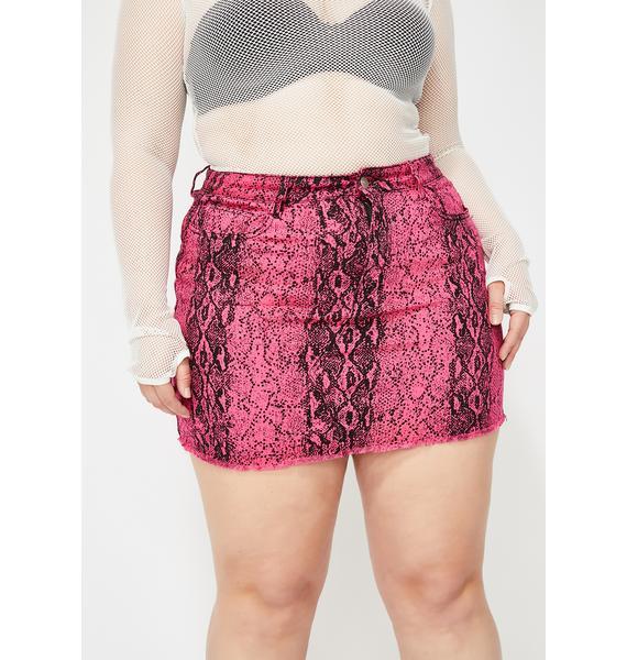 Baby OG Vile Glow Snakeskin Skirt