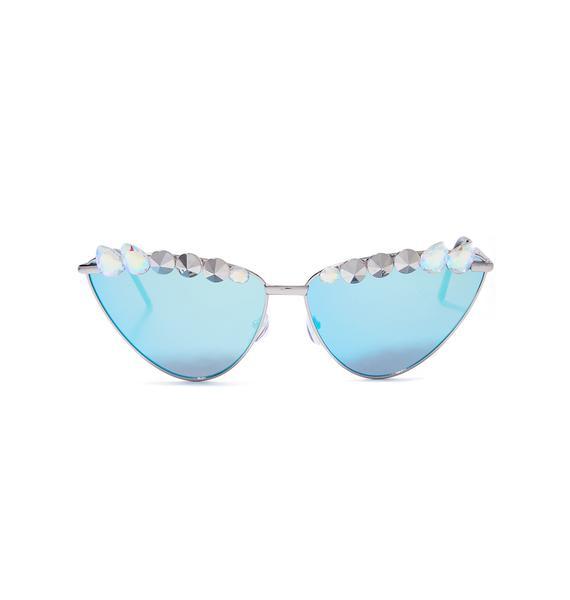 ReblKitty Robotic Rebel Cat Eye Sunglasses
