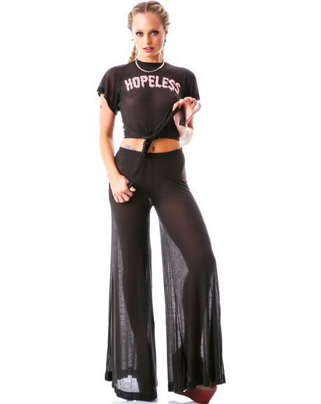 70's Wildfox Thin Rib Heaven Pant
