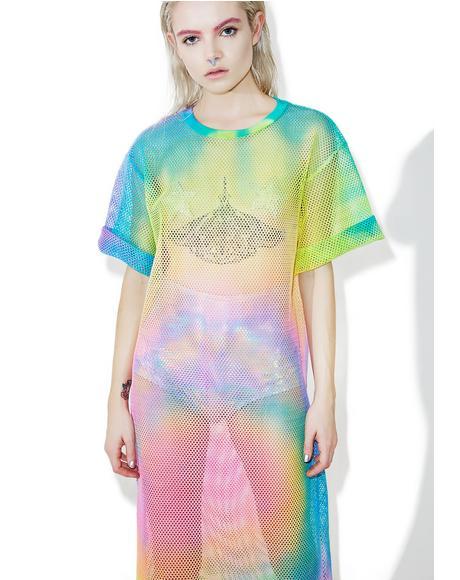 Rainbow Dawn Mesh Maxi