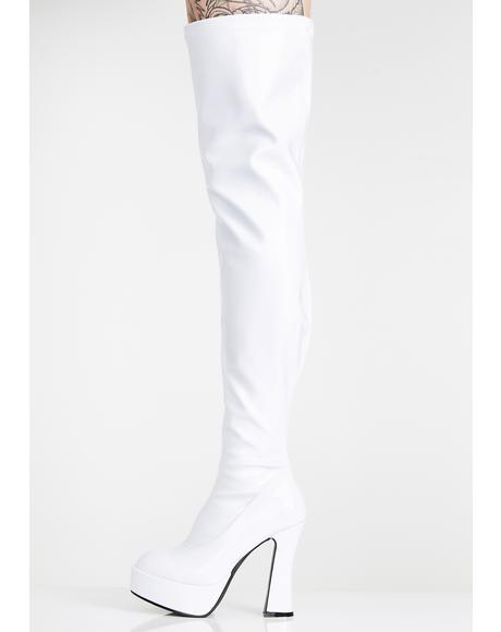 Icy Wicked Desire Platform Boots