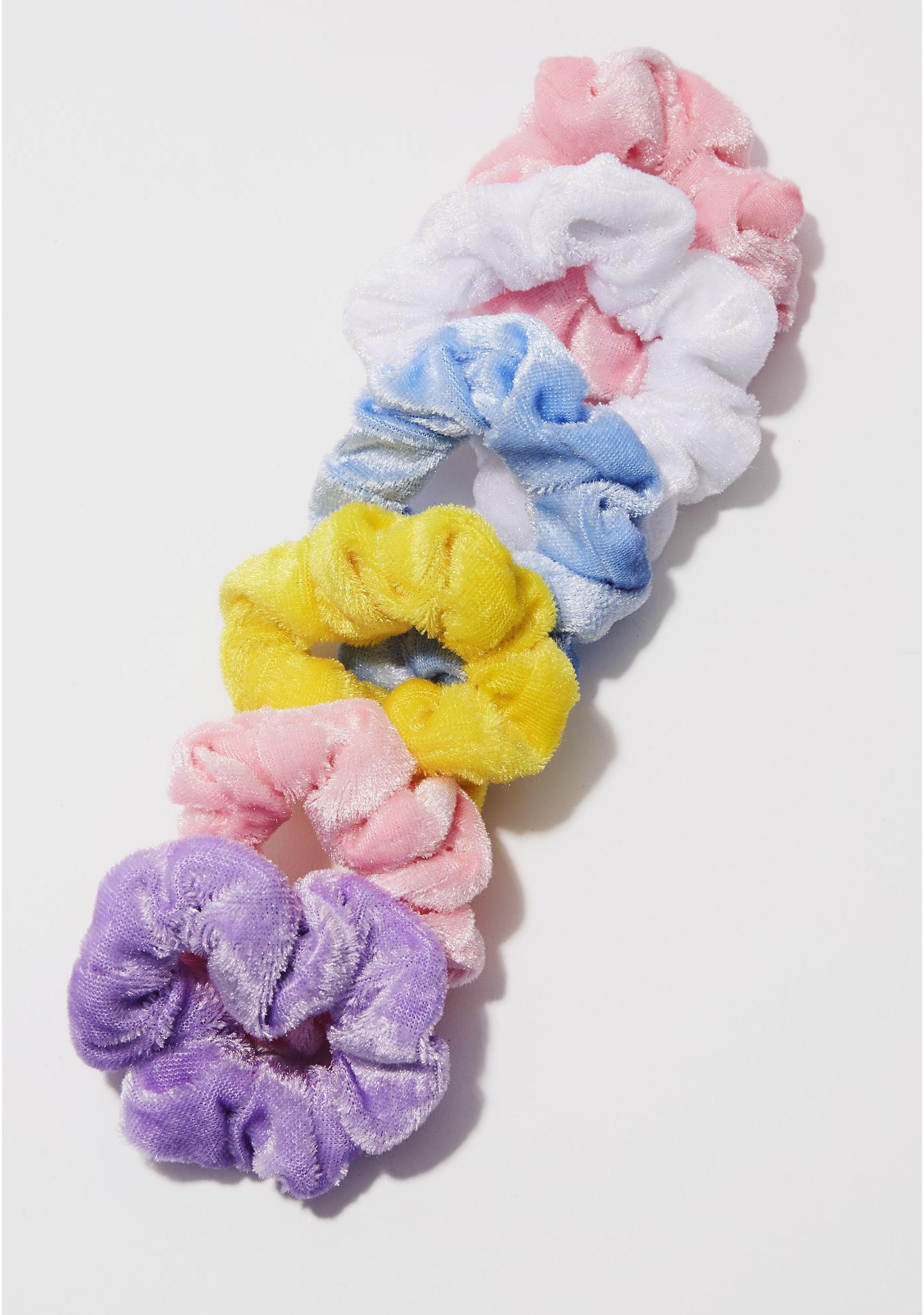 Fuzzy Bright Scrunchie Set