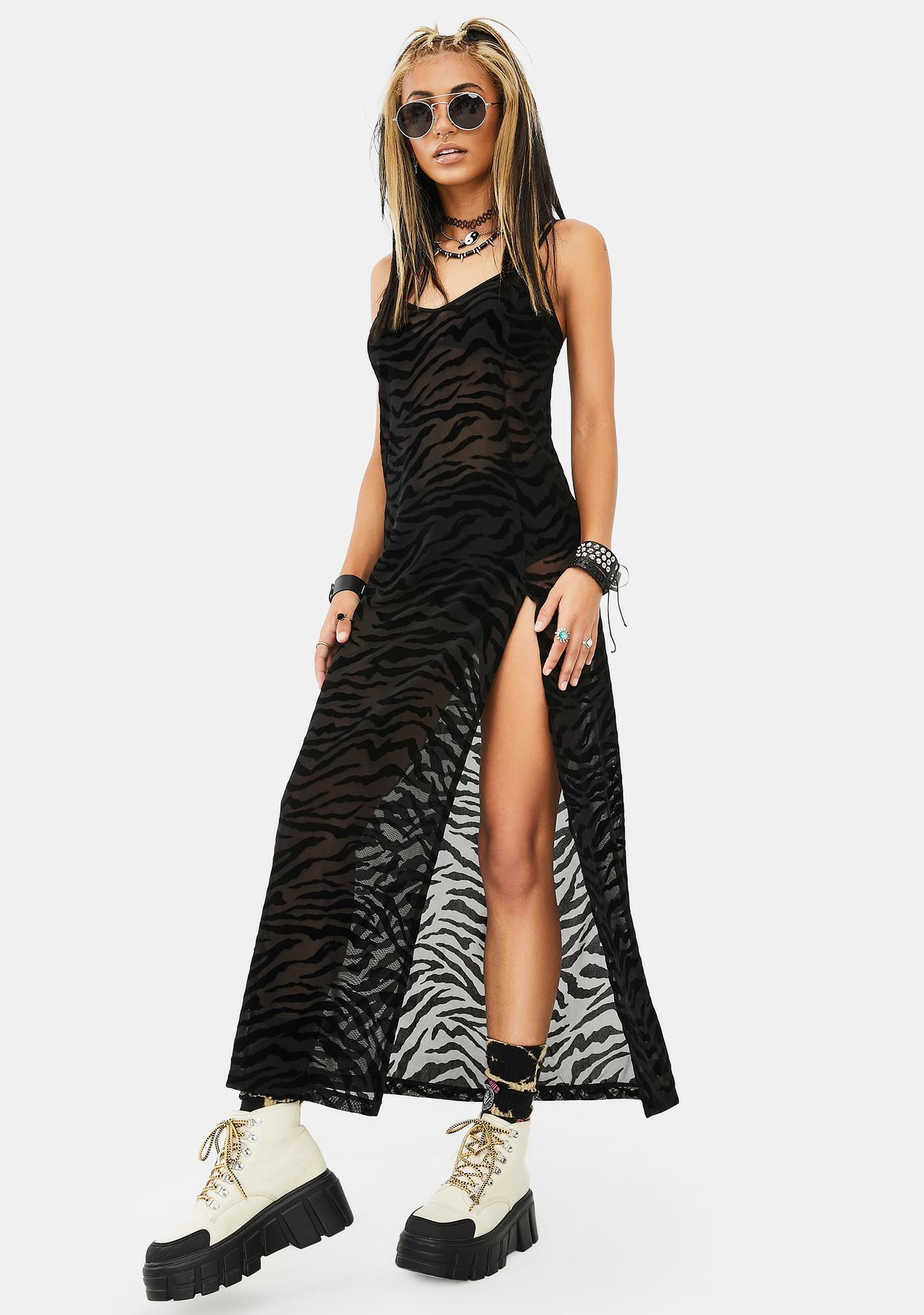 Motel Zebra Print Batis Dress