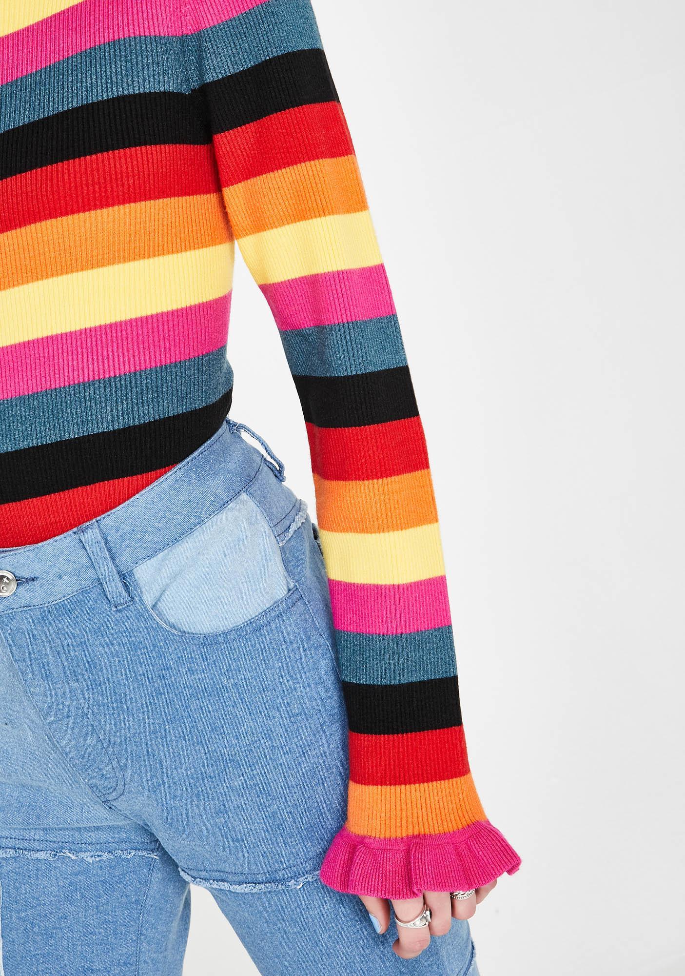 Glamorous Forbidden Girlfriend Stripe Jumper