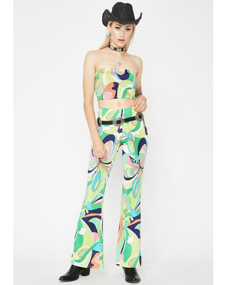 Psychedelic Desert Doll Printed Set