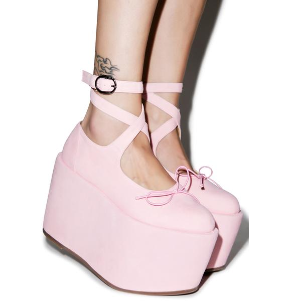 Sugar Thrillz Ballet Bopper Blush Platforms