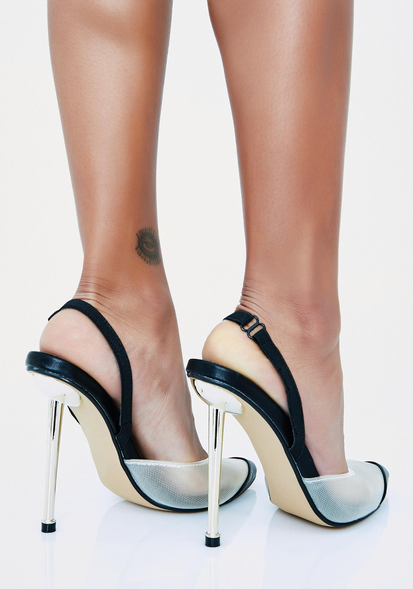 Call My Bestie Clear Heels