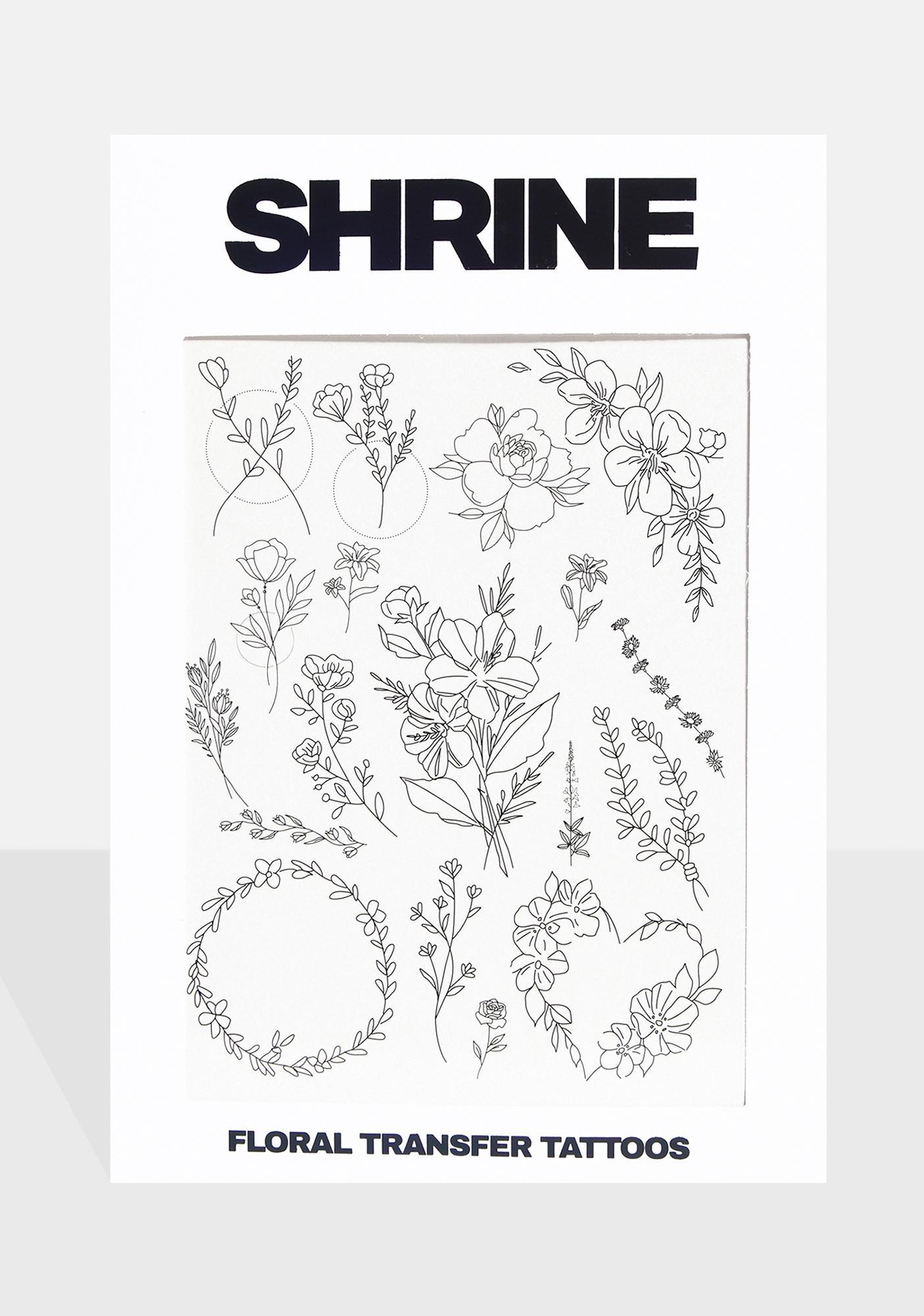 SHRINE Floral Transfer Tattoos