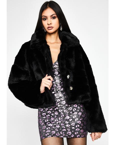 Midnight Doll Life Faux Fur Jacket
