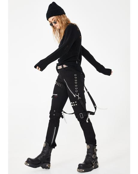Stud And Ring Bondage Pants