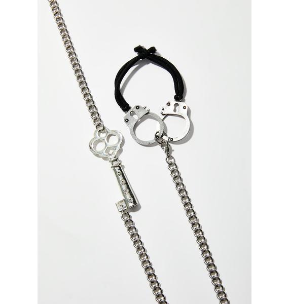 Under Lock N' Key Bondage Choker