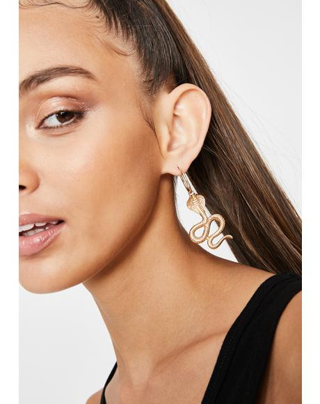 So Deadly Snake Earrings