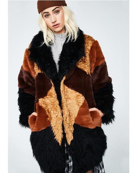 Heavy Hearts Fur Jacket