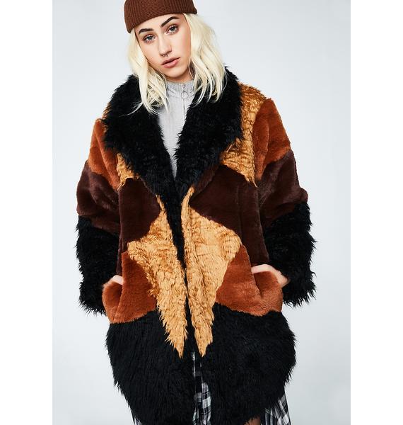 Somedays Lovin Heavy Hearts Fur Jacket