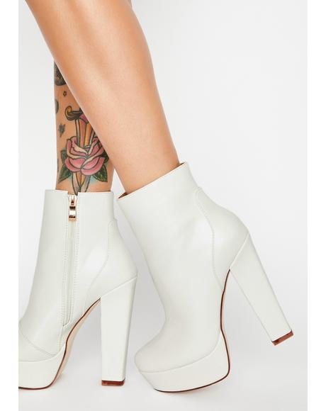 White Gotta Have It My Way Platform Boots