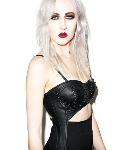 Spiked Out Bustier Dress