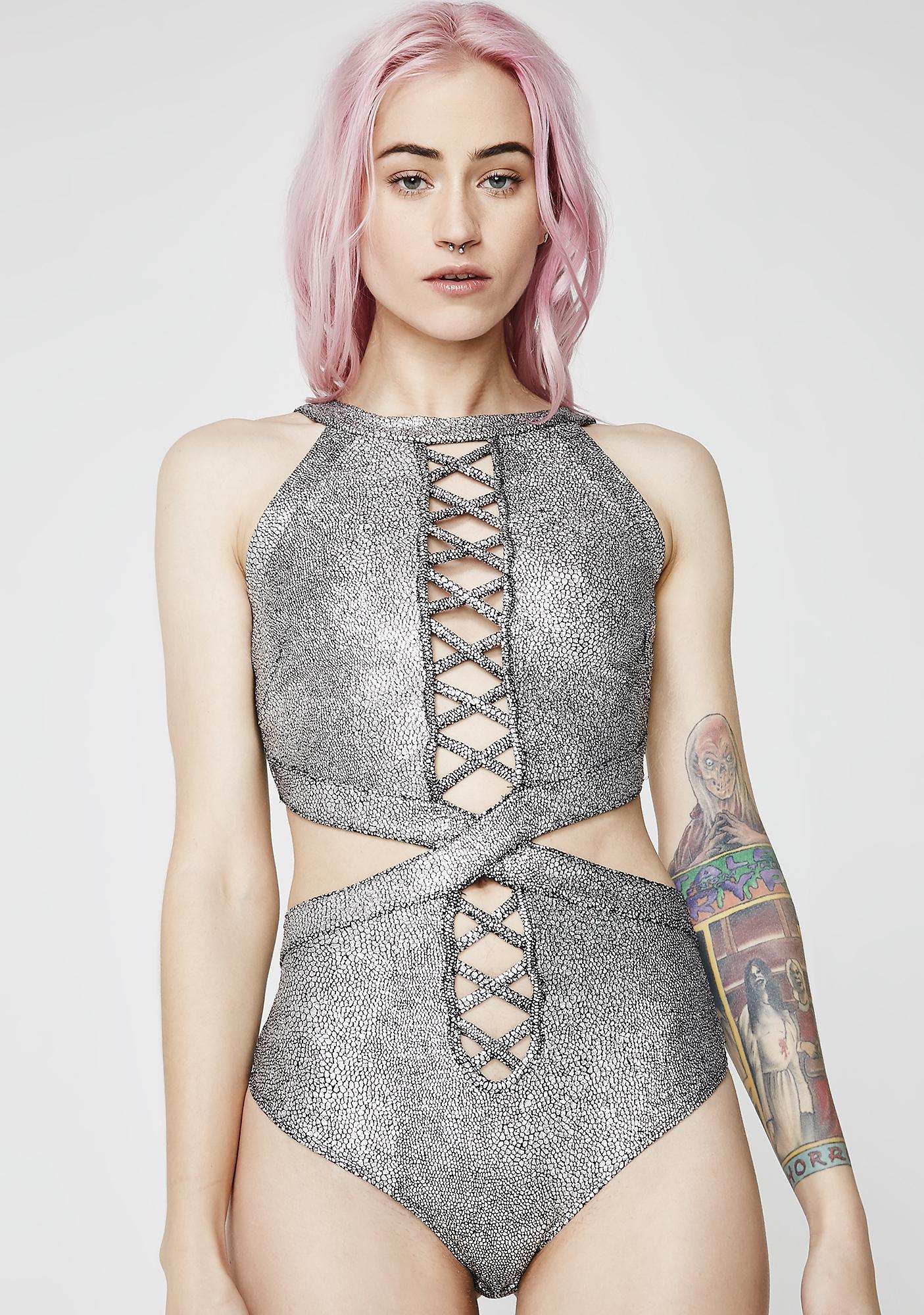 f0cc7bf158f7f Galactic Empress Metallic Bodysuit