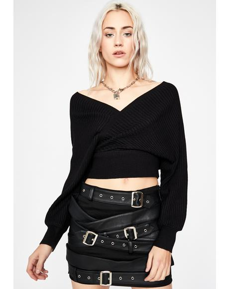 Dark Untold Lies Crop Sweater