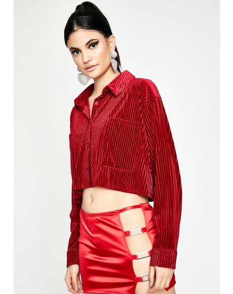 Ruby Borderline Obsessed Velvet Top