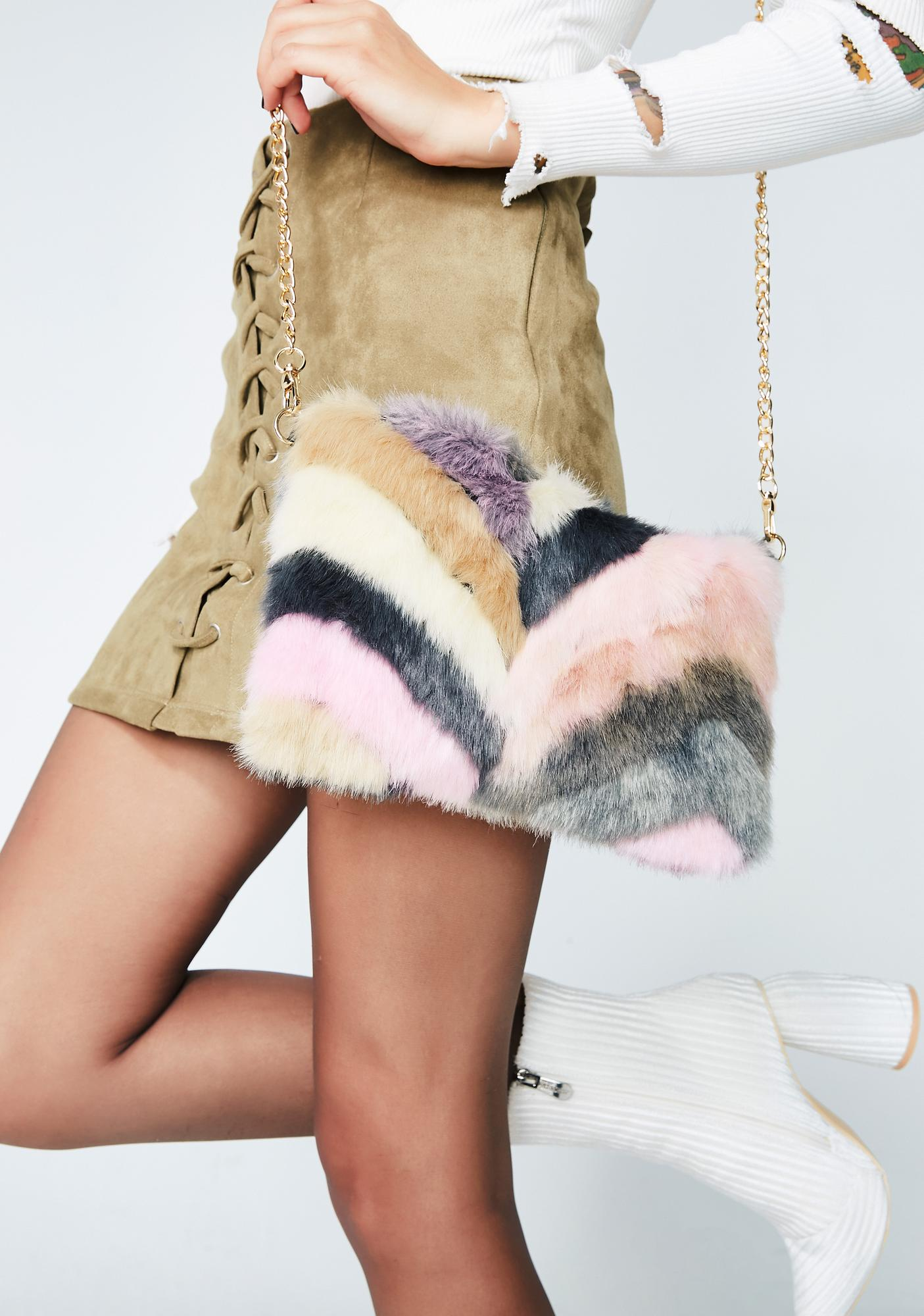 Blush Keep It Movin' Fuzzy Bag