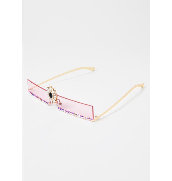 Shining Aura Rhinestone Sunglasses