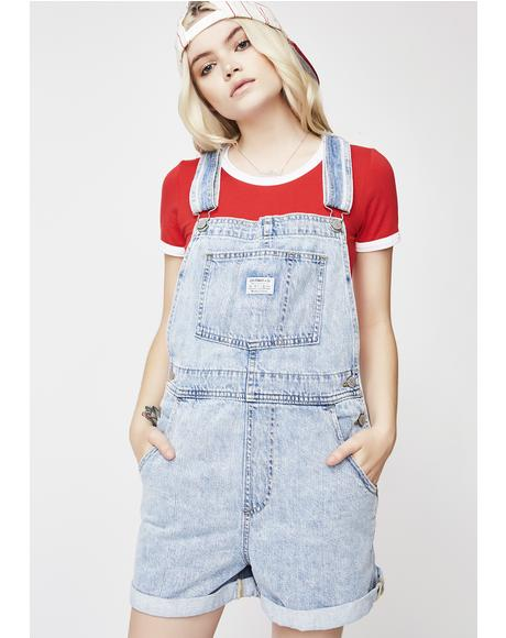 Walk Away Vintage Shortalls