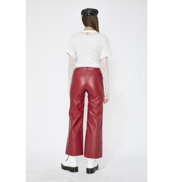 Drive Fast Vegan Leather Pants