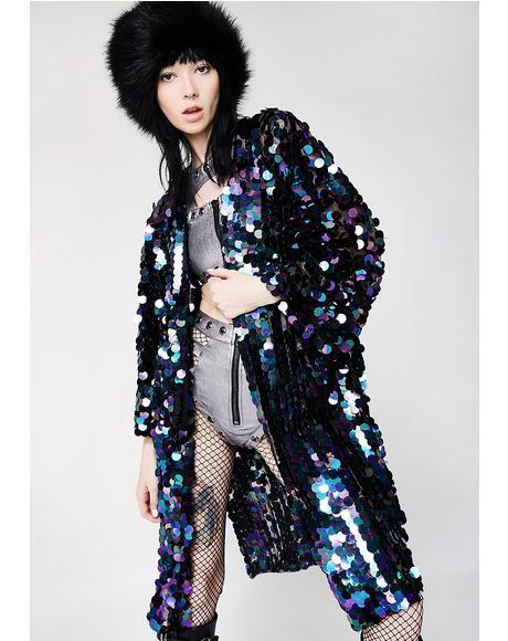 Oil Slick Glimmer Goddess Sequin Kimono