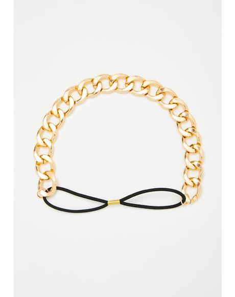 Golden Girl Chain Headband
