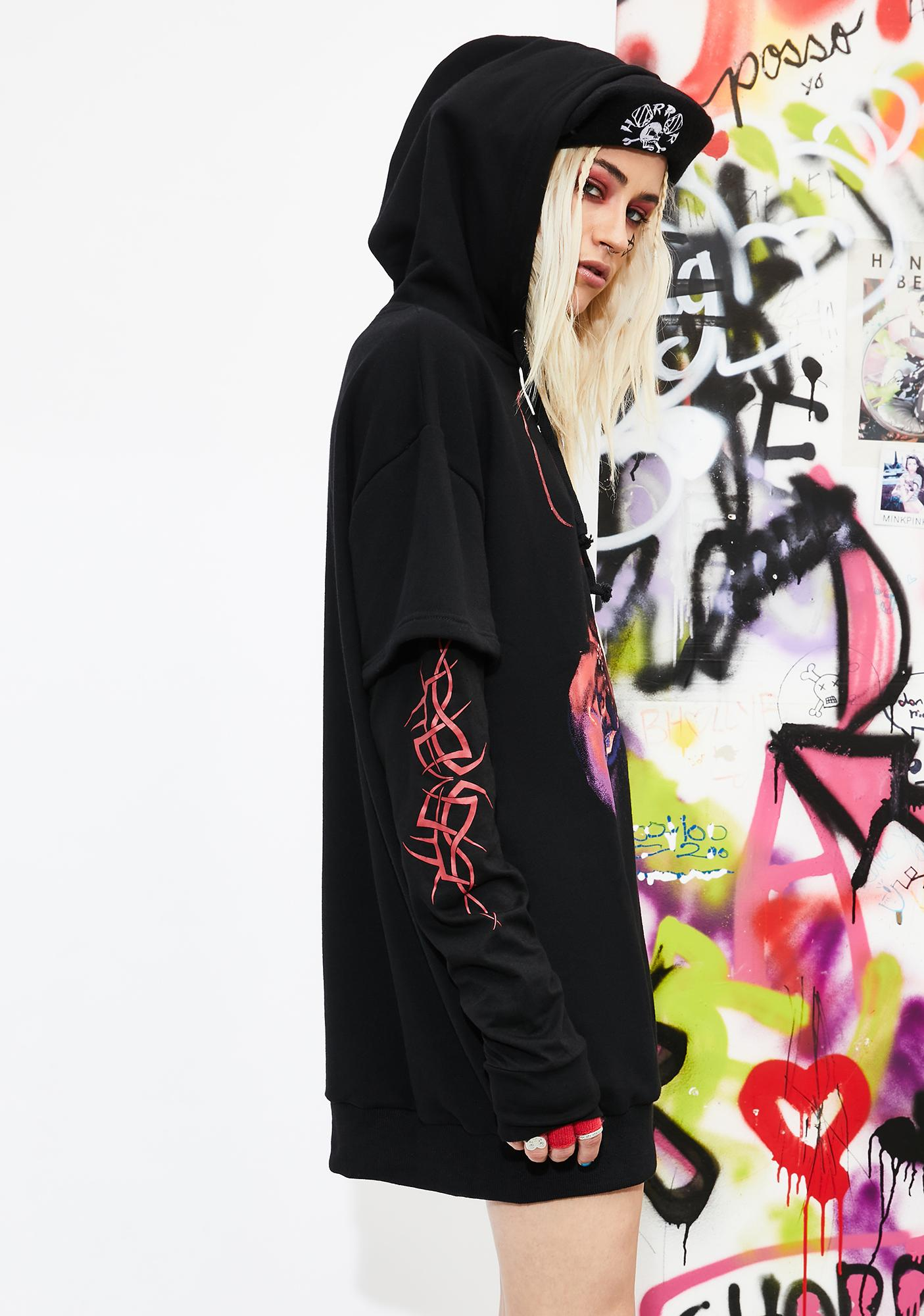 Current Mood Broken Hymns Layered Hoodie