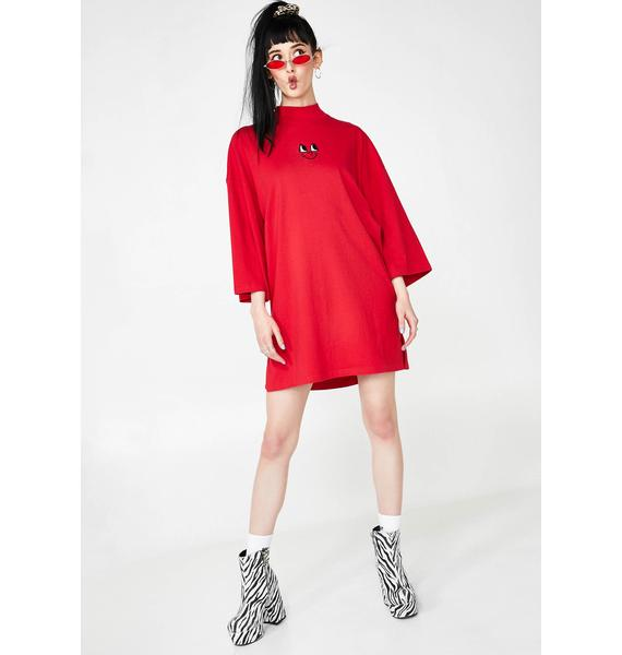 Lazy Oaf Happy High Neck T-Shirt