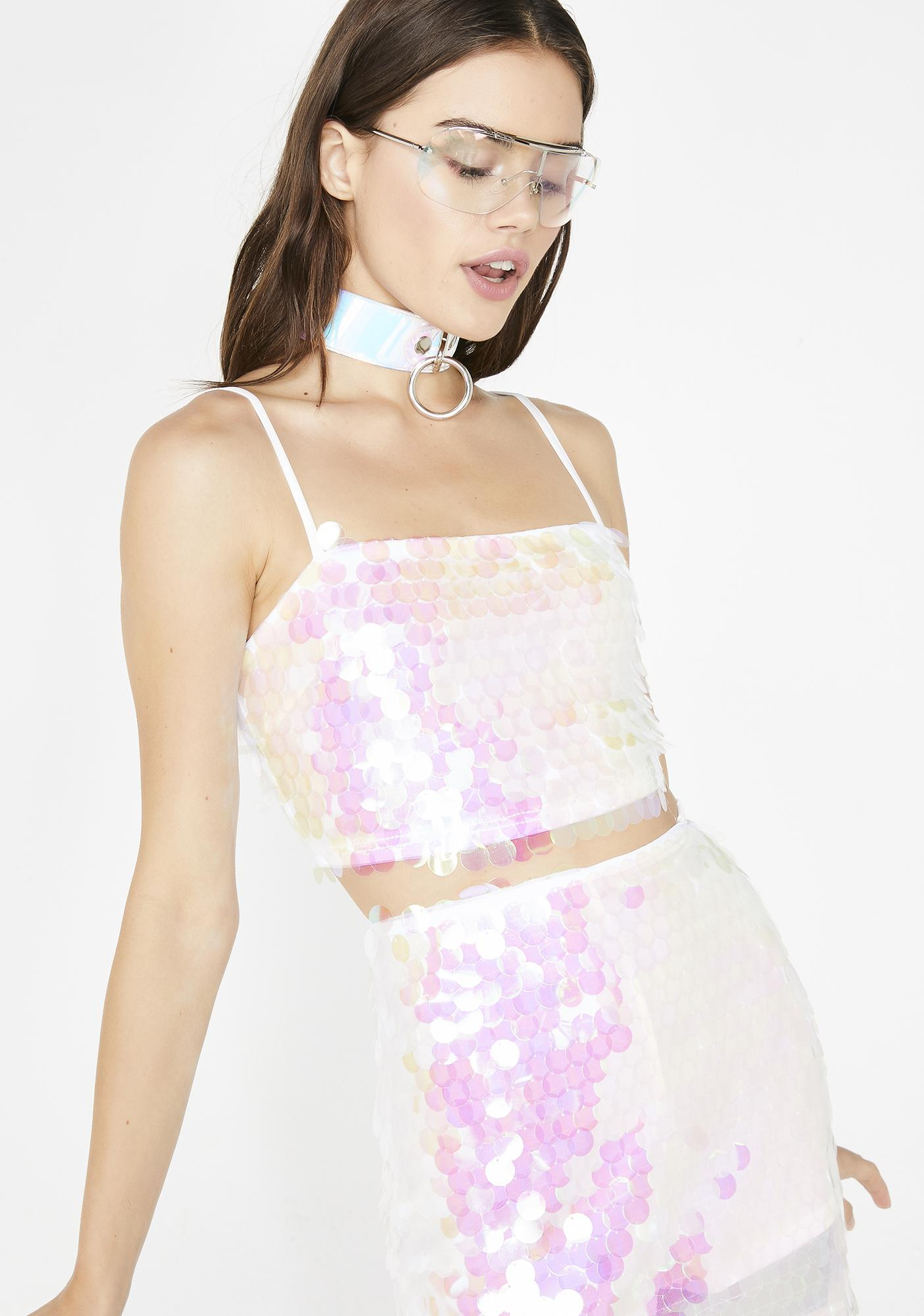 Pearlescent Pixie Sequin Top