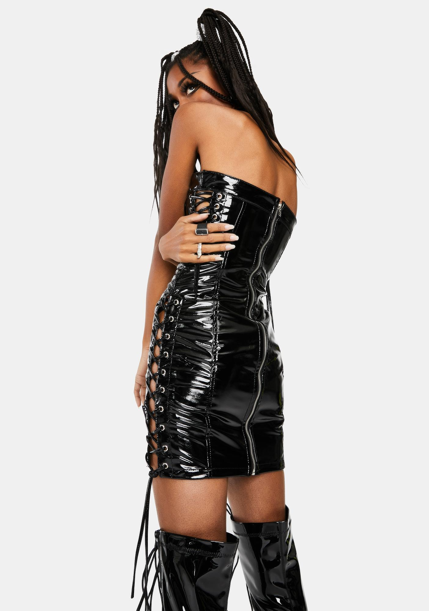 Tripp NYC Black Choker Mini Dress