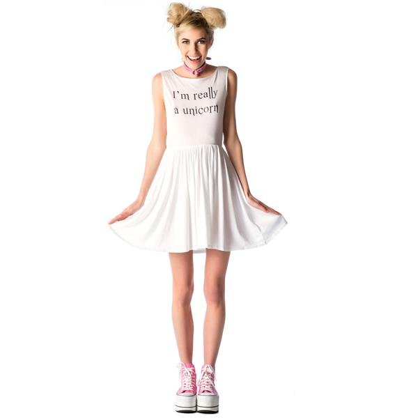 Wildfox Couture Really A Unicorn 90s Baby Doll Dress
