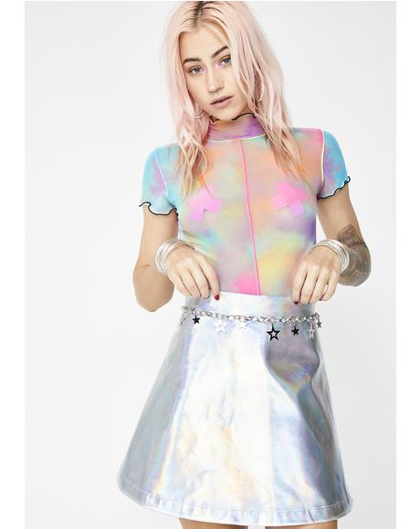 Lil' Spacey Holographic Circle Skirt