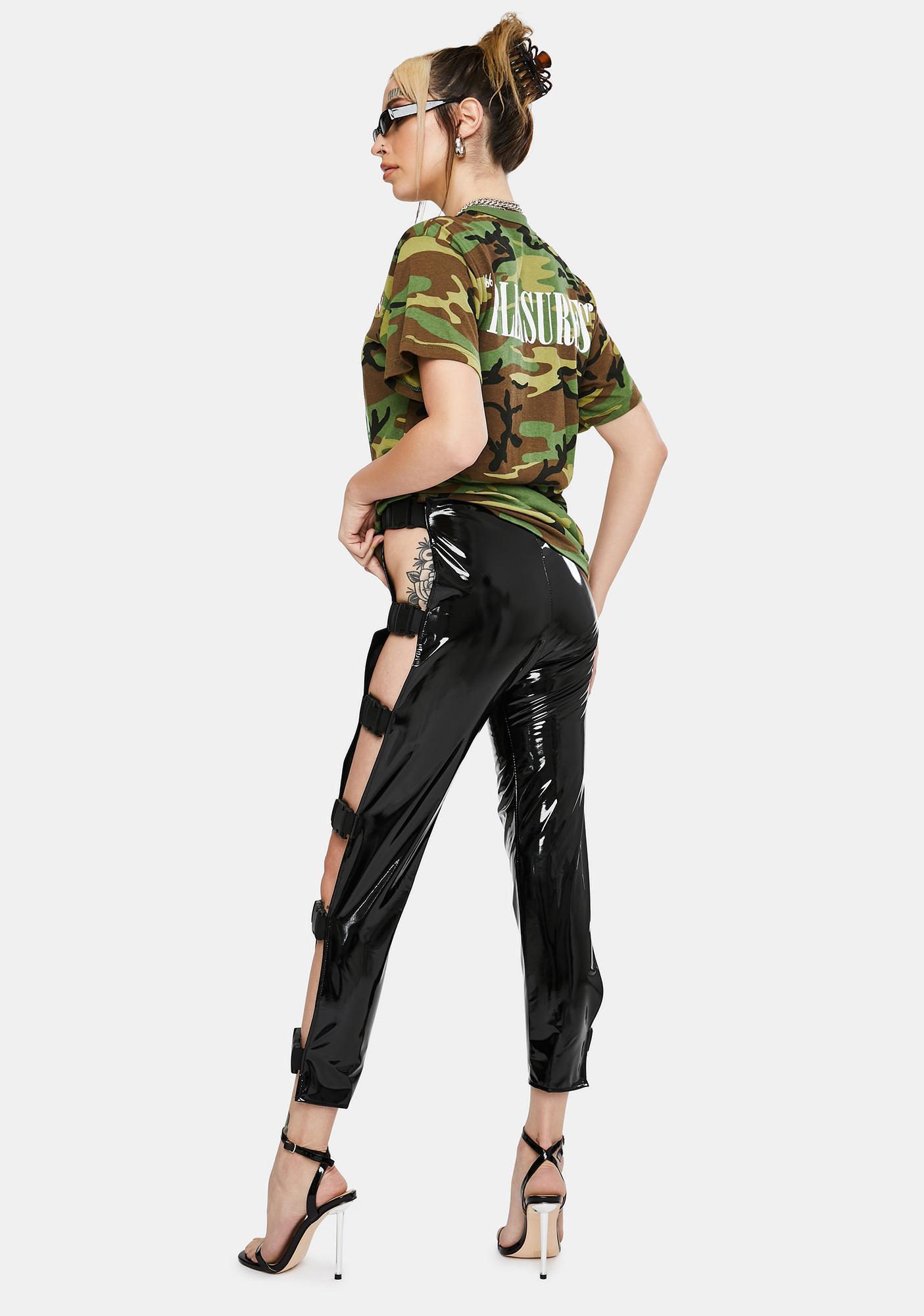 Tiar PVC Buckle Pants